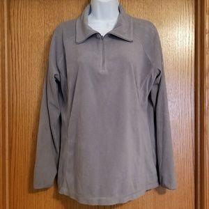 Columbia Gray 1/4 Zip Pullover Fleece Jacket XL